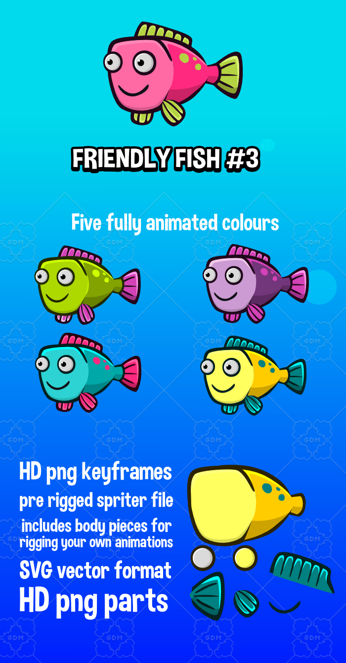 Animated friendly fish 3