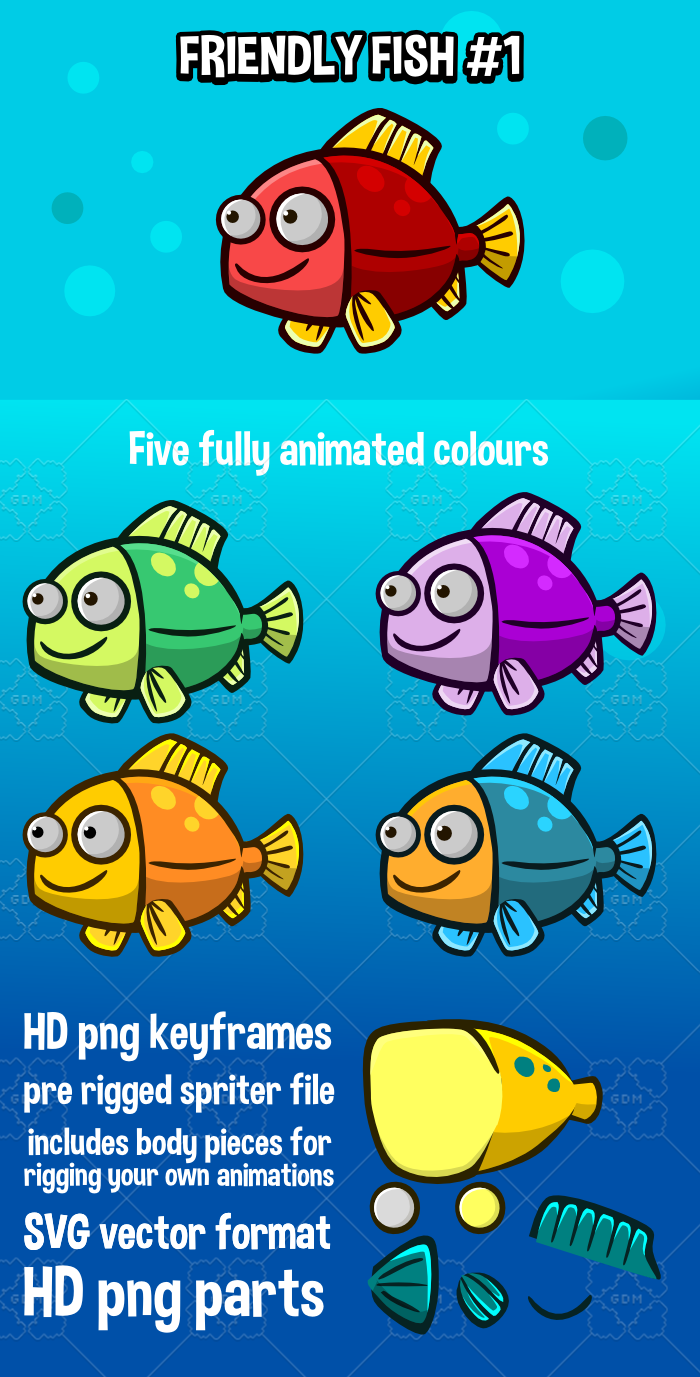 Animated friendly fish 1