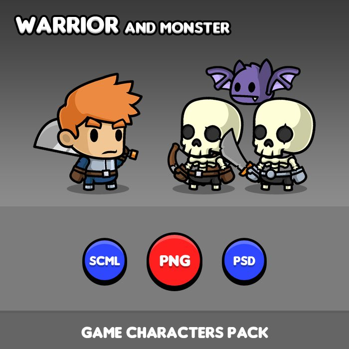 Warrior Game Characters – Pack