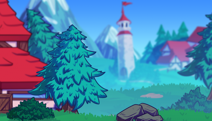 2D Fantasy Village Background