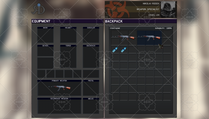 Post-Apocalyptic Inventory UI
