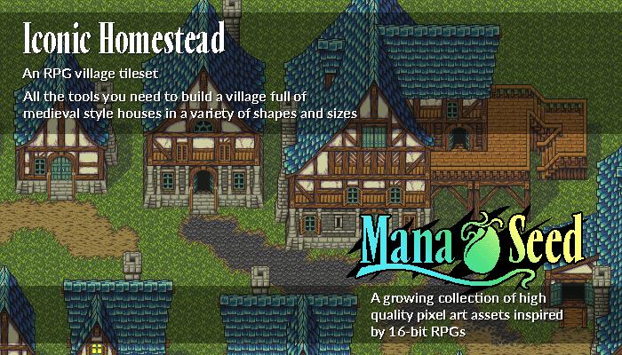 Iconic Homestead – Pixel Art Asset