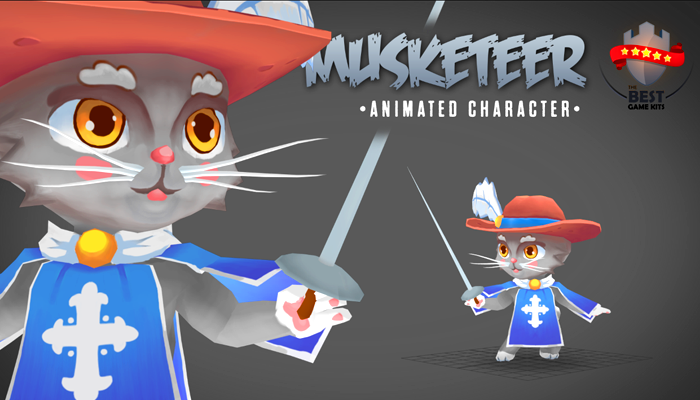 Musketeer animated character