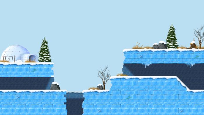 2D Arctic tiles set