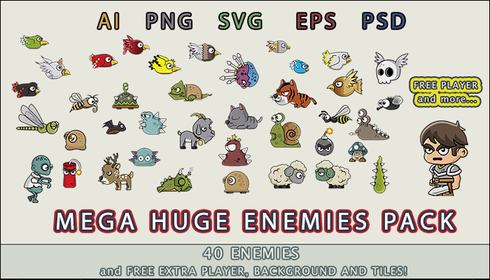 Mega huge enemies Pack