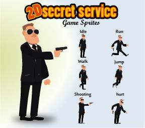 Secret Service game sprites