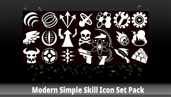 Modern Simple Skill Icon Set Pack