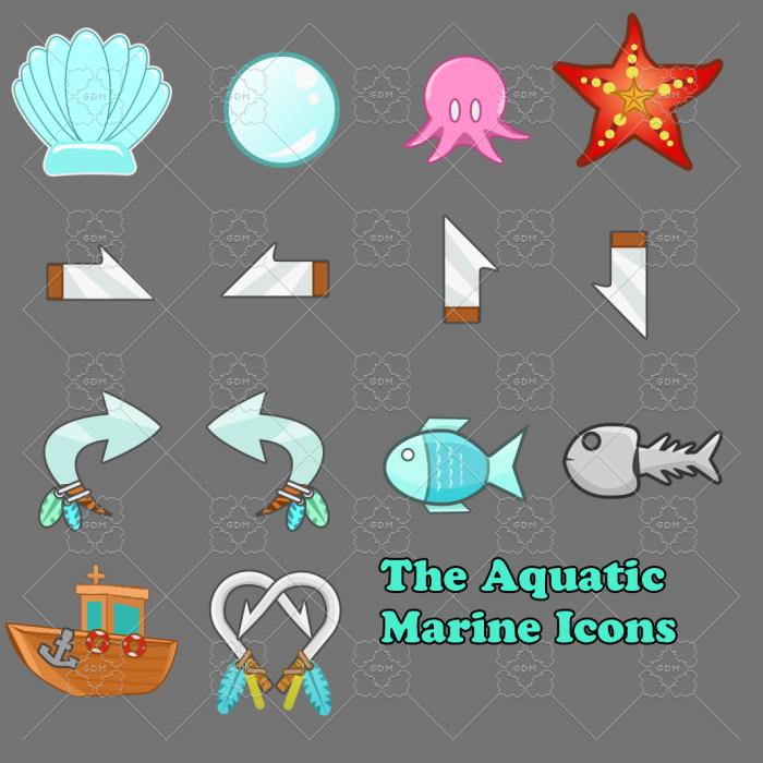 Aquatic Marine Icons