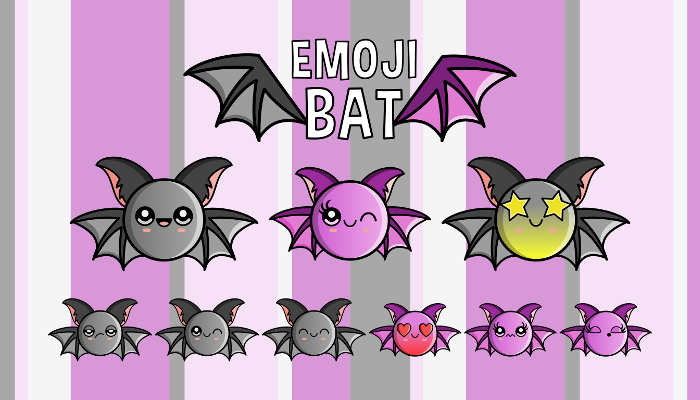 Halloween – Emoji Emotion Bat Faces