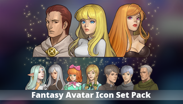 Fantasy Avatar Icon Set Pack