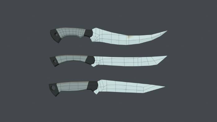 Pack Knives Low/High Poly and Textures