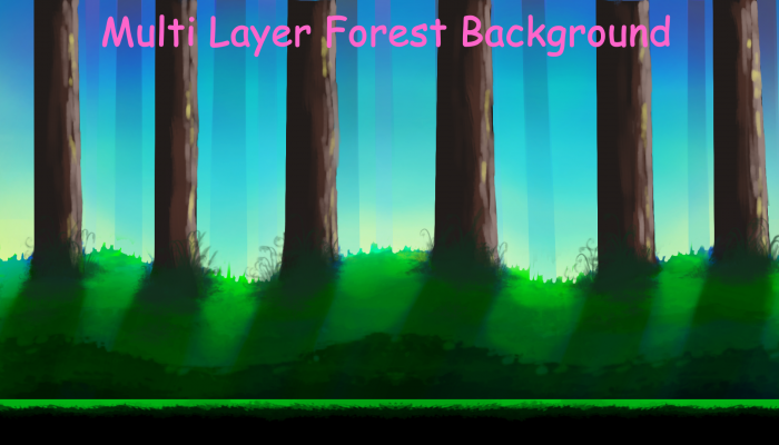 Multi Layered Forest Background