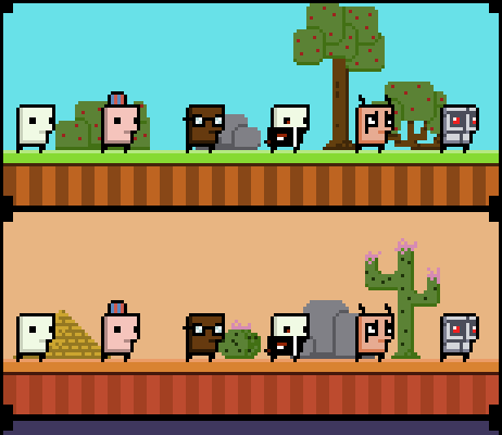 2D Platformer Basic Runner (Phone game) Asset