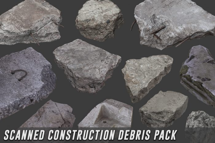 Scanned Construction Debris Pack