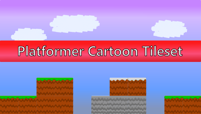 Platformer Cartoon Tileset
