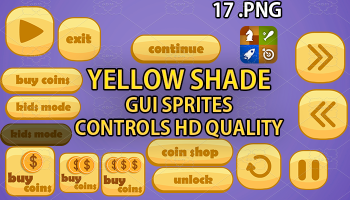 YELLOW SHADE hud GUI hd quality 17 .png files