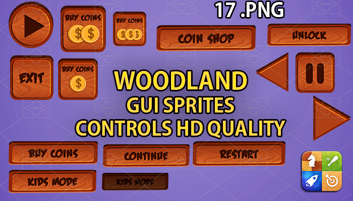 WOODLAND hud GUI hd quality 17 .png files