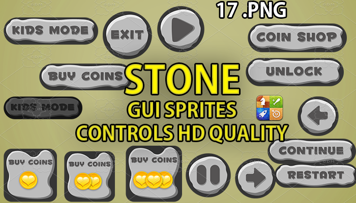 STONE hud GUI hd quality 17 .png files
