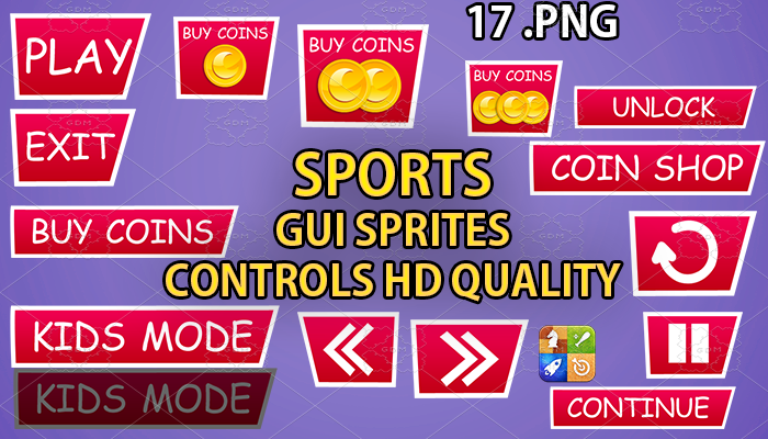 SPORTS PINK hud GUI hd quality 17 .png files