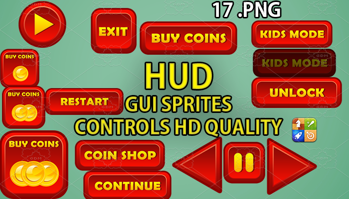 REDDY hud GUI hd quality 17 .png files
