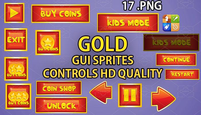 GOLD hud GUI hd quality 17 .png files