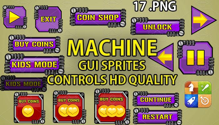MACHINE PURPLE hud GUI hd quality 17 .png files