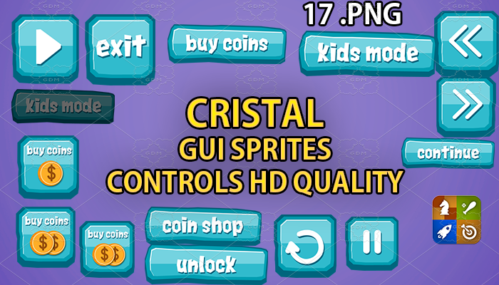 CRISTAL hud GUI hd quality 17 .png files
