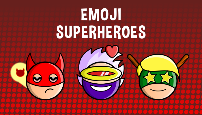 Emoji Emotion Superheroes Faces