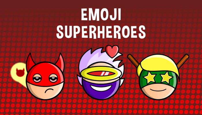 Emoji Emotion Superheroes Faces