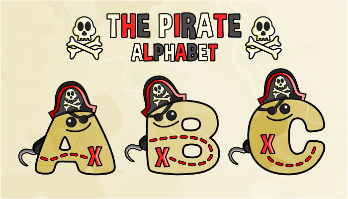 Assets For Children´s Games – The Pirate Alphabet (ENG-SPAN.)