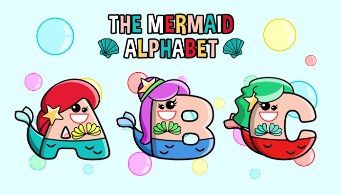 Assets For Children´s Games – The Mermaid Alphabet (ENG-SPAN.)