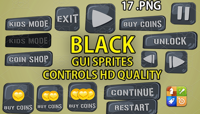 BLACK STONE hud GUI hd quality 17 .png files