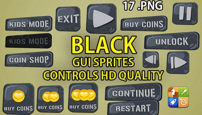 BLACK STONE hud GUI hd quality 17 .png files