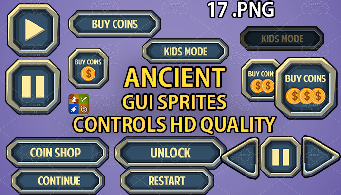 ANCIENT hud GUI hd quality 17 .png files
