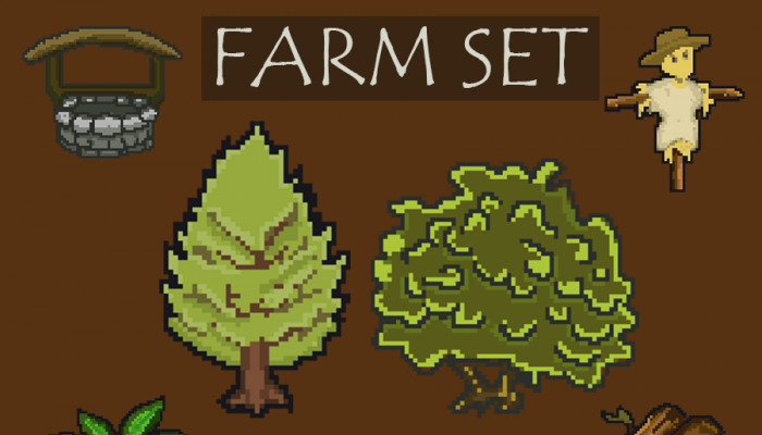 Farm Set – Objects, Farmer Man, Dog