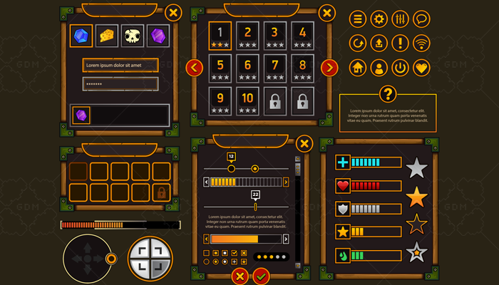 Fantasy Game User Interface