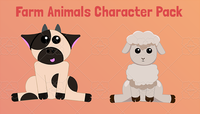 Farm Animals Character Pack