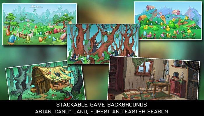 Cartoon Stackable Game Backgrounds