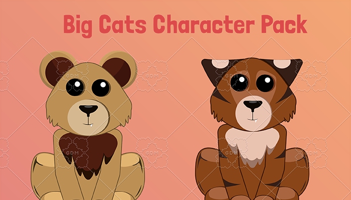 Big Cats Character Pack