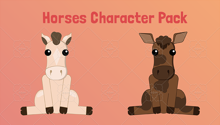 Horses Character Pack