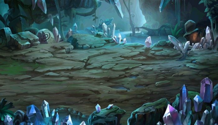 SCROLLING BACKGROUND – CRYSTAL CAVERNS