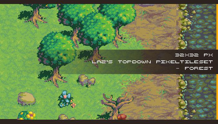 [Legacy] Laz's Topdown Pixel Tileset – Forest 32×32