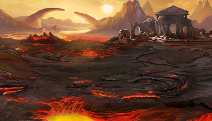 PARALLAX BACKGROUND – LAVA LANDS