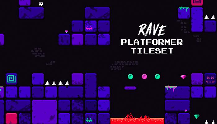 Rave Platformer Tileset