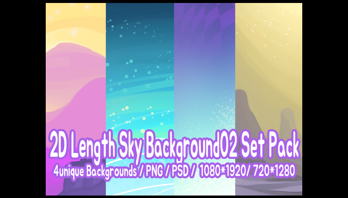 2D Length Sky Background02 Set Pack