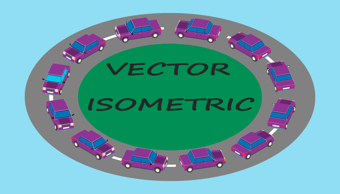 Cars in isometrics in different angles.