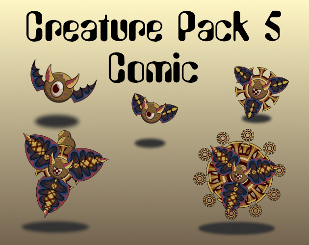 Creature Pack 5 Comic Style