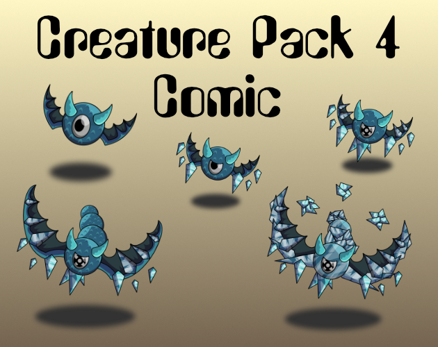 Creature Pack 4 Comic Style