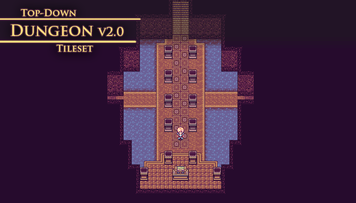 Top-Down Tileset – Dungeon –