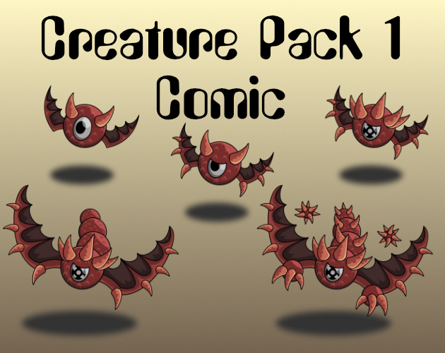 Creature Pack 1 Comic Style